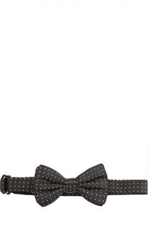 Шелковый галстук-бабочка в горошек Dolce & Gabbana