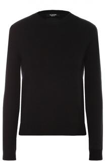 Кашемировый пуловер с декоративными шипами и разрезами Valentino