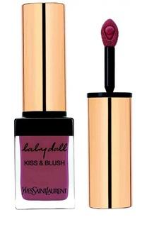 Блеск для губ и румяна Baby Doll Kiss & Blush 10 Nude Insolent YSL