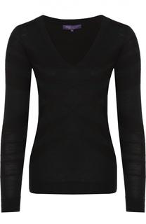 Облегающий пуловер с V-образным вырезом Ralph Lauren