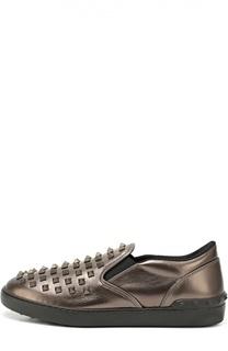 Кожаные слипоны Rockstud Valentino