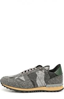 Текстильные кроссовки Rockrunner Valentino