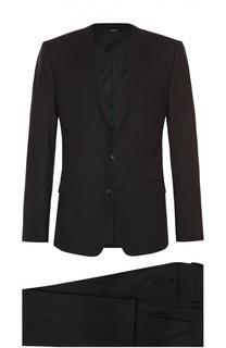 Шерстяной приталенный костюм Dolce & Gabbana