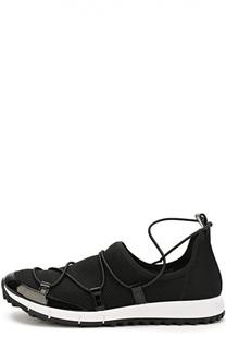 Женские комбинированные кроссовки Andrea на шнуровке Jimmy Choo