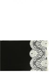 Шелковый платок с кружевом Dolce & Gabbana