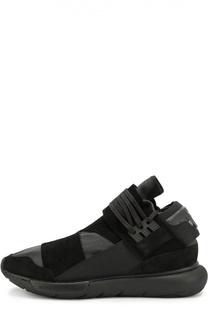 Кожаные кроссовки Qasa с текстильной отделкой Y-3