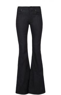 Расклешенные джинсы с кожаной отделкой Tom Ford