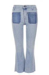 Укороченный расклешенные джинсы с бахромой Rag&Bone Rag&;Bone