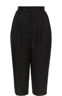 Укороченные брюки-бананы с фактурной отделкой Dolce & Gabbana
