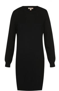 Вязаное платье с длинным рукавом и заплатками Burberry