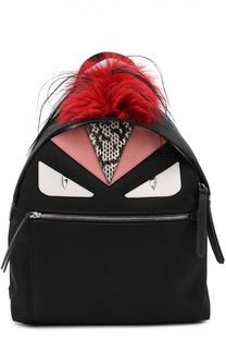 Рюкзак Bag Bugs с отделкой из меха и комбинированной кожи Fendi