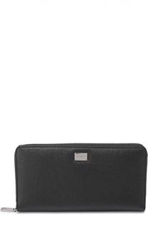 Кожаное портмоне на молнии Dolce & Gabbana