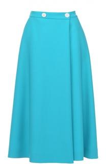 Шерстяная расклешенная юбка-миди Escada
