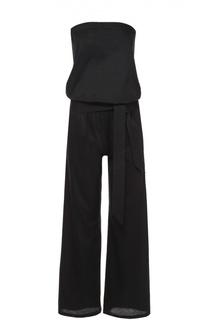 Приталенный комбинезон-бюстье с поясом и карманами Back Label