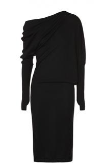 Кашемировое приталенное платье с драпировкой Tom Ford