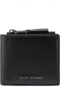 Кожаное портмоне с отделениями для кредитных карт и монет Dior