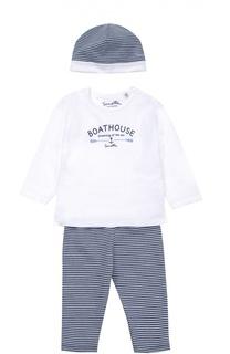 Распашонка в комплекте с брюками и шапкой Sanetta Fiftyseven