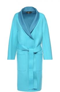 Пальто с укороченным рукавом и накладными карманами Escada