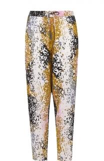 Шелковые брюки прямого кроя с эластичным поясом Diane Von Furstenberg