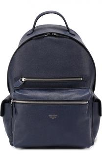 Рюкзак из зерненой кожи Bertoni