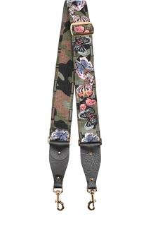 Ремень для сумки Guitar с вышивкой Camu Butterfly Valentino