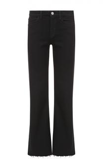 Укороченные расклешенные джинсы с бахромой MiH Jeans