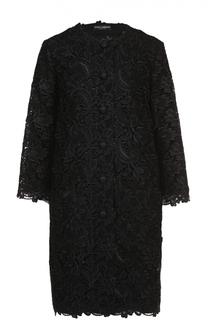 Кружевное пальто прямого кроя с укороченными рукавами Dolce & Gabbana