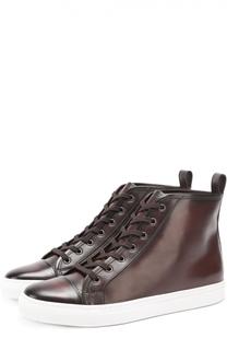 Высокие кожаные кеды на шнуровке Ralph Lauren