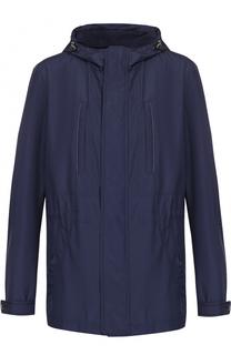 Удлиненная куртка на молнии с капюшоном Pal Zileri