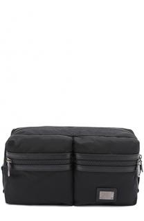 Поясная сумка Vulcano с отделкой из натуральной кожи Dolce & Gabbana