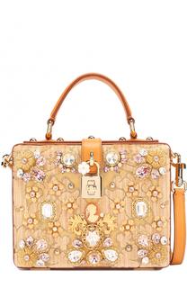 Сумка Dolce Box с отделкой кристаллами Limited edition Dolce & Gabbana