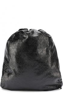Кожаный рюкзак с эффектом крэш Balenciaga