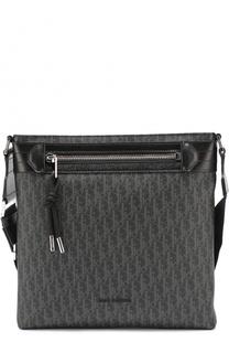 Сумка-планшет с внешним карманом на молнии и отделкой из натуральной кожи Dior