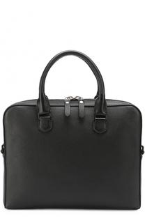 Кожаная сумка для ноутбука с внешним карманом на молнии Lanvin