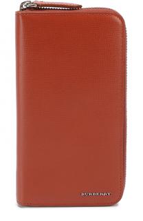 Кожаное портмоне на молнии с отделениями для кредитных карт и монет Burberry