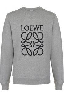Хлопковый свитшот с логотипом бренда Loewe