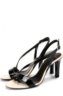 Кожаные босоножки на высоком каблуке Lanvin