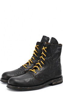 Кожаные ботинки с потертостями Ann Demeulemeester