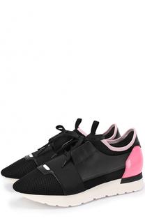 Комбинированные кроссовки с контрастной вставкой Balenciaga
