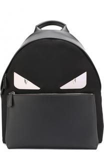 Комбинированный рюкзак с аппликацией Bag Bugs Fendi
