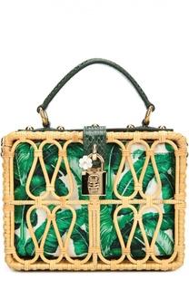 Плетеная сумка Dolce Box с кожаной отделкой Dolce & Gabbana