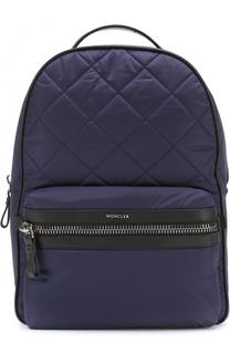 Текстильный рюкзак с отделкой из натуральной кожи Moncler