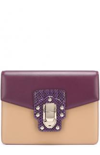 Сумка Lucia с отделкой из кожи питона Dolce & Gabbana