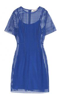 Кружевное мини-платье с коротким рукавом Diane Von Furstenberg