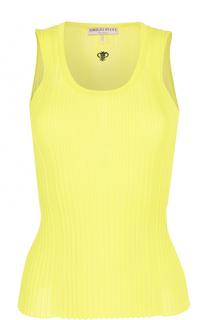 Облегающий топ фактурной вязки без рукавов Emilio Pucci