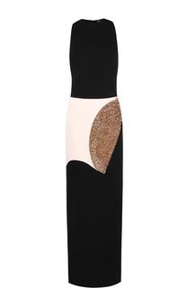 Приталенное платье-макси с декоративной отделкой Tom Ford