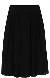 Вязаная юбка-миди с широким поясом Giorgio Armani