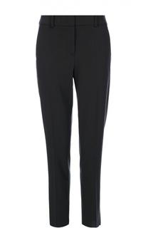 Шерстяные брюки прямого кроя со стрелками и карманами Armani Collezioni