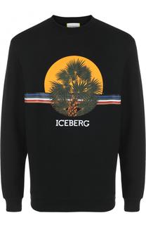Хлопковый свитшот с принтом Iceberg