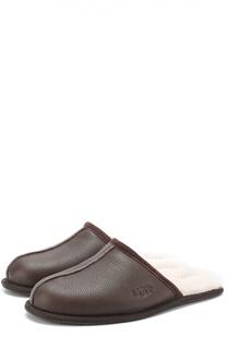Кожаные домашние туфли с внутренней меховой отделкой UGG Australia
